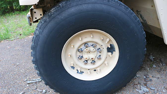 surplus humvee wheel