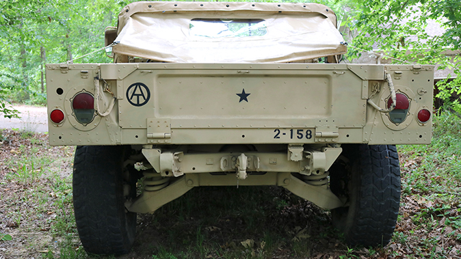 surplus humvee rear