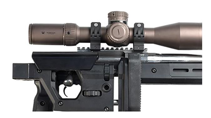 magpul Pro 700 Rifle Chassis m-lok slots and QD sling swivel mounts