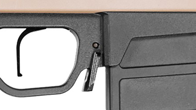 magpul Pro 700 Rifle Chassis magazine release
