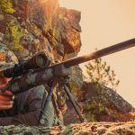 Nosler M48 Long Range Carbon rifle angle