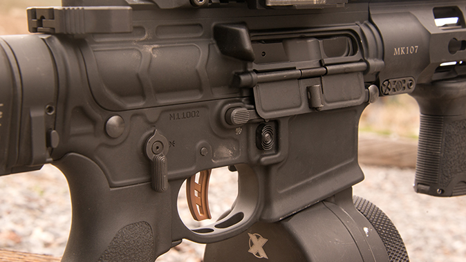 PWS MK107 Mod 2 rifle right side controls
