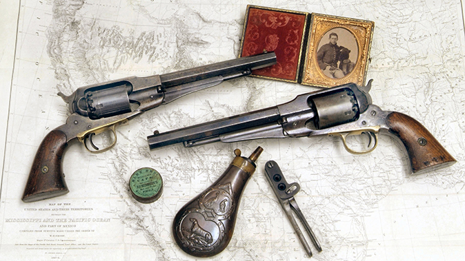 remington revolvers old model and new model navy