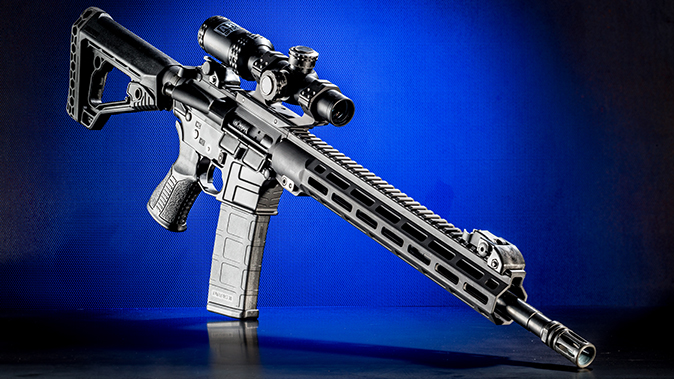 Savage MSR 15 Recon rifle right angle