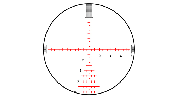 savage model 10 grs rifle scope reticle