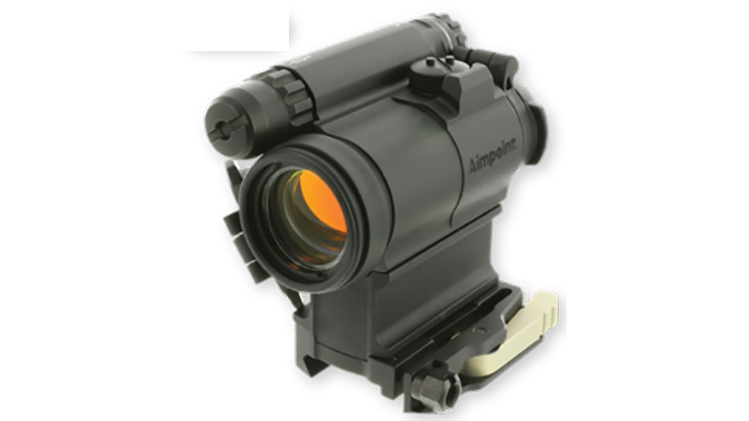 Aimpoint CompM5 red dot sight left angle