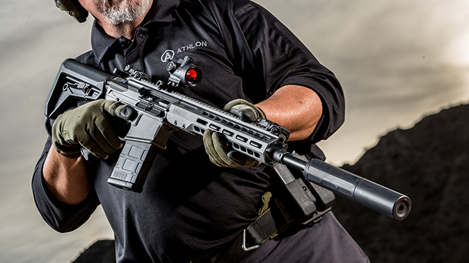 Barrett REC10 rifle closeup