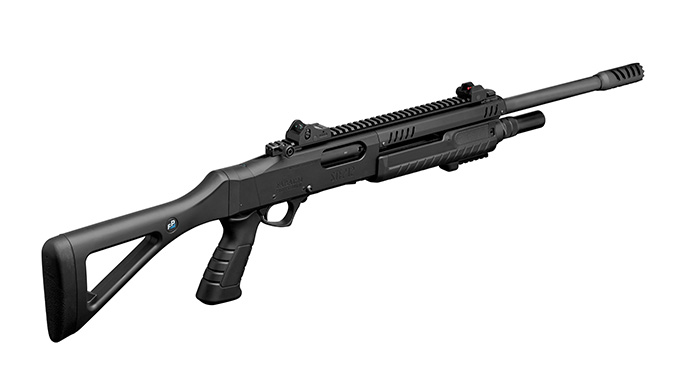 fabarm STF 12 Shotgun black rear angle