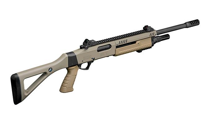 fabarm STF 12 Shotgun fde rear angle