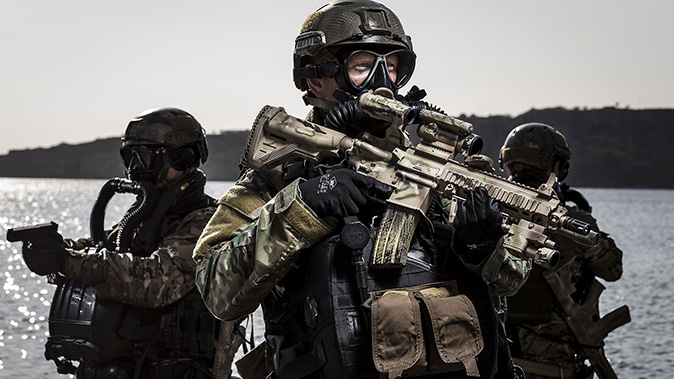 HK416 A5 rifles Korps Commandotroepen rifle