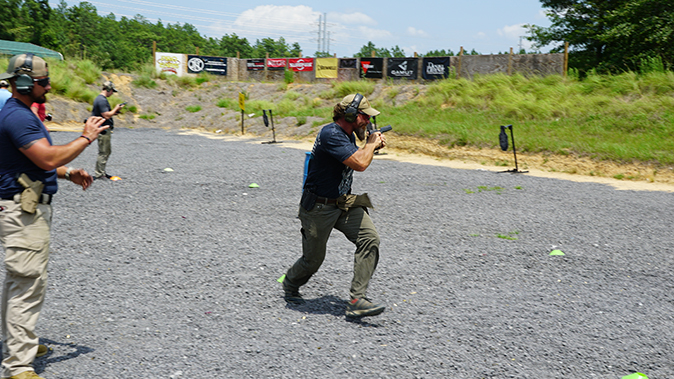 Pat McNamara gunfight mobility tactics running to next location