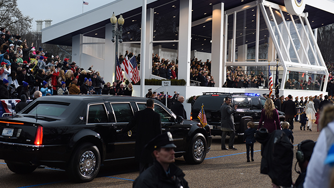 police cruisers trump family inauguration