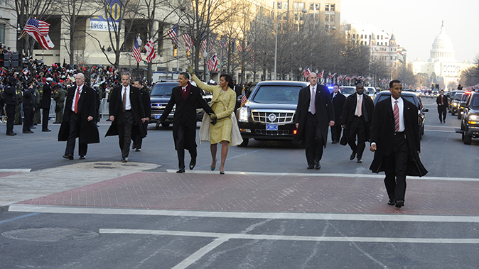 police cruisers obama family inauguration