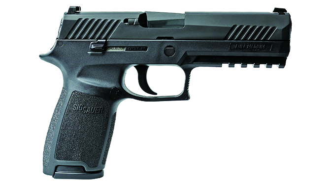 Sig p320 pistol full-size right profile
