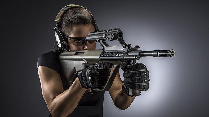 Steyr AUG A3 M1 rifle lead