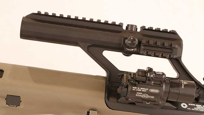 Steyr AUG A3 M1 rifle optics