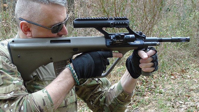 Steyr AUG A3 M1 rifle action