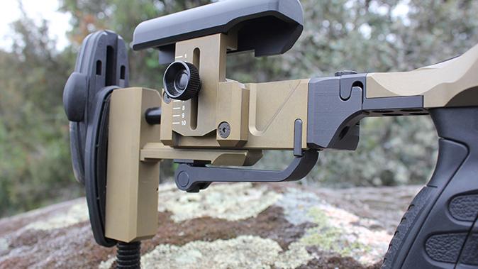 Steyr SSG 08-A1 rifle buttstock