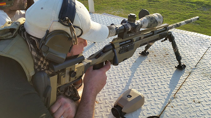 Steyr SSG 08-A1 rifle shooting test