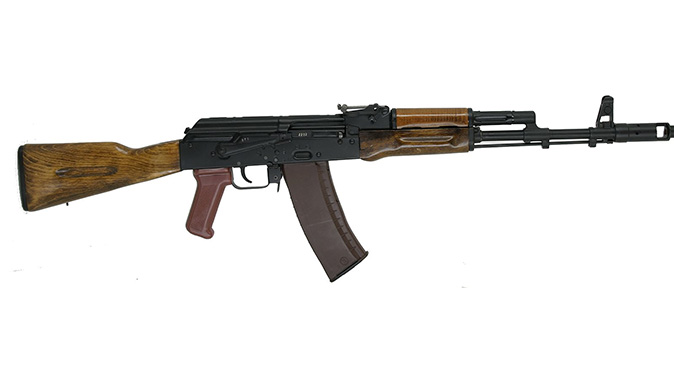 ak-74 rifle right profile