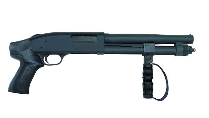 Mossberg 590A1 Compact Cruiser buckshot shotgun