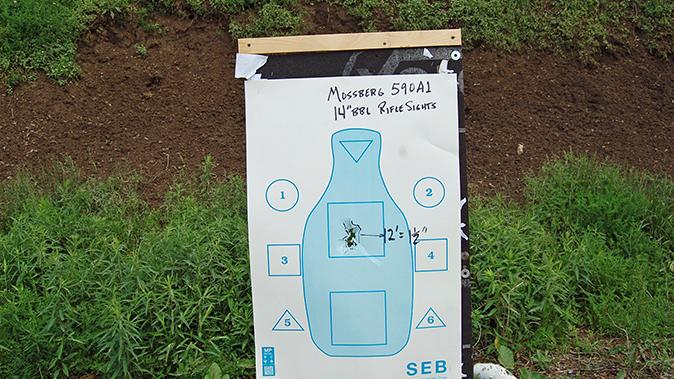 buckshot mossberg 590a1 target