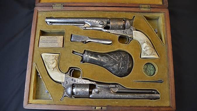 colonel custer colt model 1861 revolver set