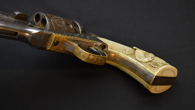 colonel custer colt model 1861 revolvers frontstrap