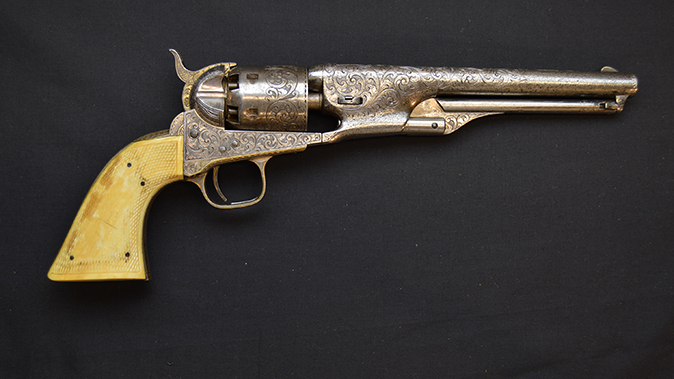 colonel custer colt model 1861 revolvers right profile