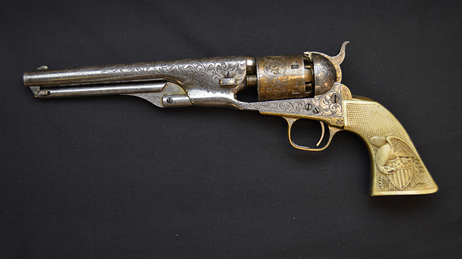 colonel custer colt model 1861 revolvers left profile