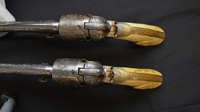 colonel custer colt model 1861 revolvers engraving