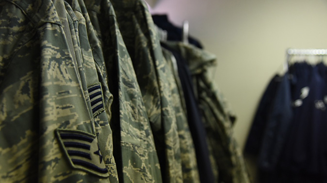 air force army combat uniform closeup