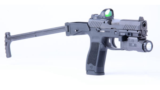 B&T USW-320 chassis stock extended