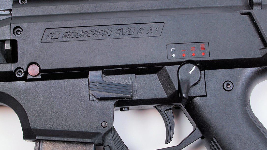 cz scorpion evo 3 a1 smg fire control selector