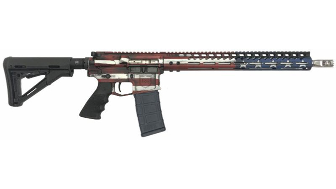 Dark Storm DS-15 Signature Series freedom flag rifle right profile