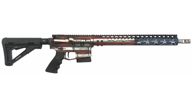Dark Storm DS-15 Signature Series freedom flag rifle fixed right profile