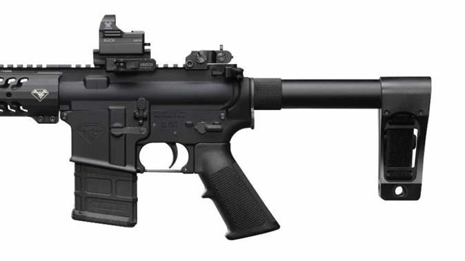 DoubleStar Strongarm pistol brace attached