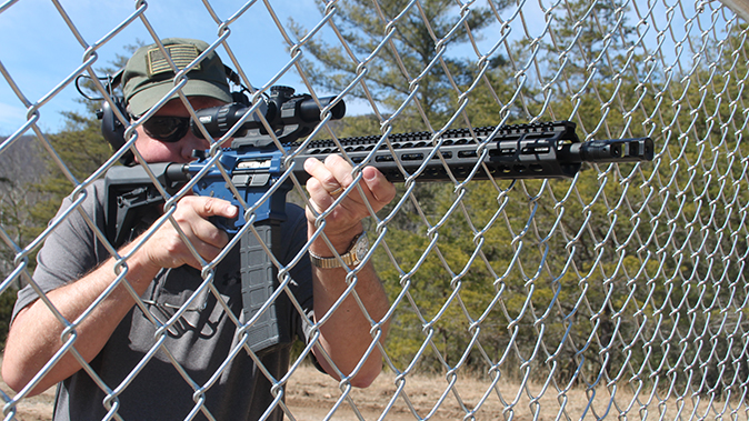FN 15 Competition rifle fence shooting