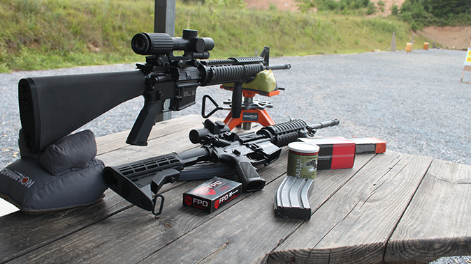 fn military collector m16 m4 rifles range