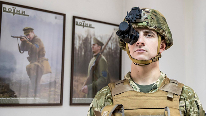 harris AN/PVS-14 Night Vision Monoculars helmet mounted