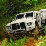 Oshkosh JLTV vehicle front angle