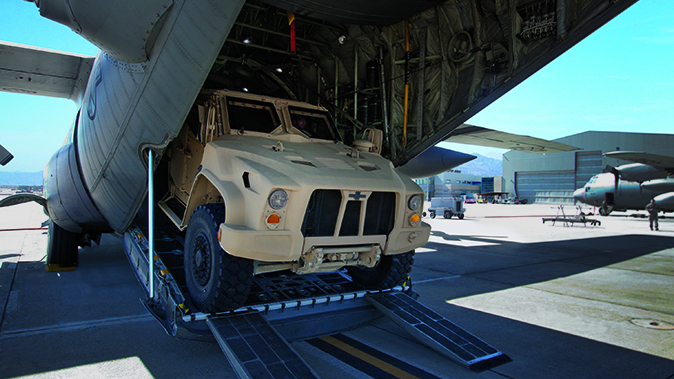 Oshkosh JLTV c-130 transport