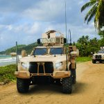 Oshkosh JLTV vehicle beach