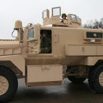 mrap vehicle police left profile