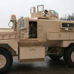 mrap vehicle police left profile