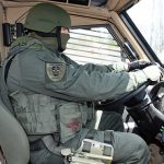 mrap vehicle police driver