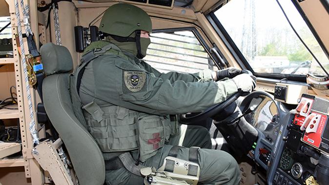 mrap vehicle police driver