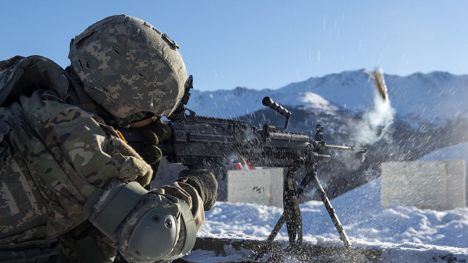 army Next Generation Squad Automatic Rifle m249 firing