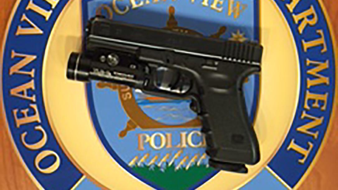 ocean view pd gun logo