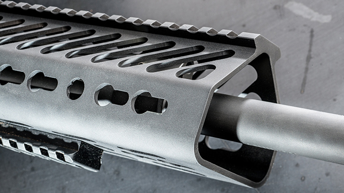 Seekins Precision SP10 6.5 Creedmoor rifle handguard slots